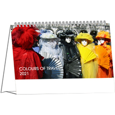 Desk calendar 2021 Colours of Travel