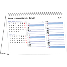 Desk calendar 2021 International Memo