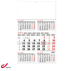 shipping calendar 5 months 2021 Business Midi