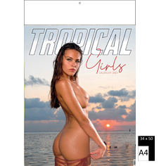 Wall calendar 2021 Pin-Up Tropical Girls