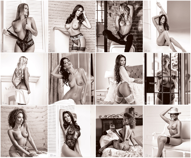 Wall calendar 2021 Pin-Up Women 13p 45x59cm Images